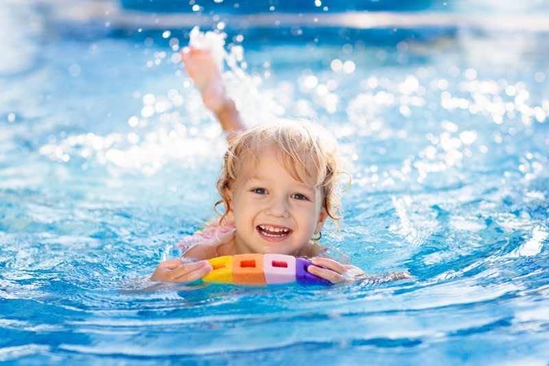 Child Learning to Swim Gold Coast